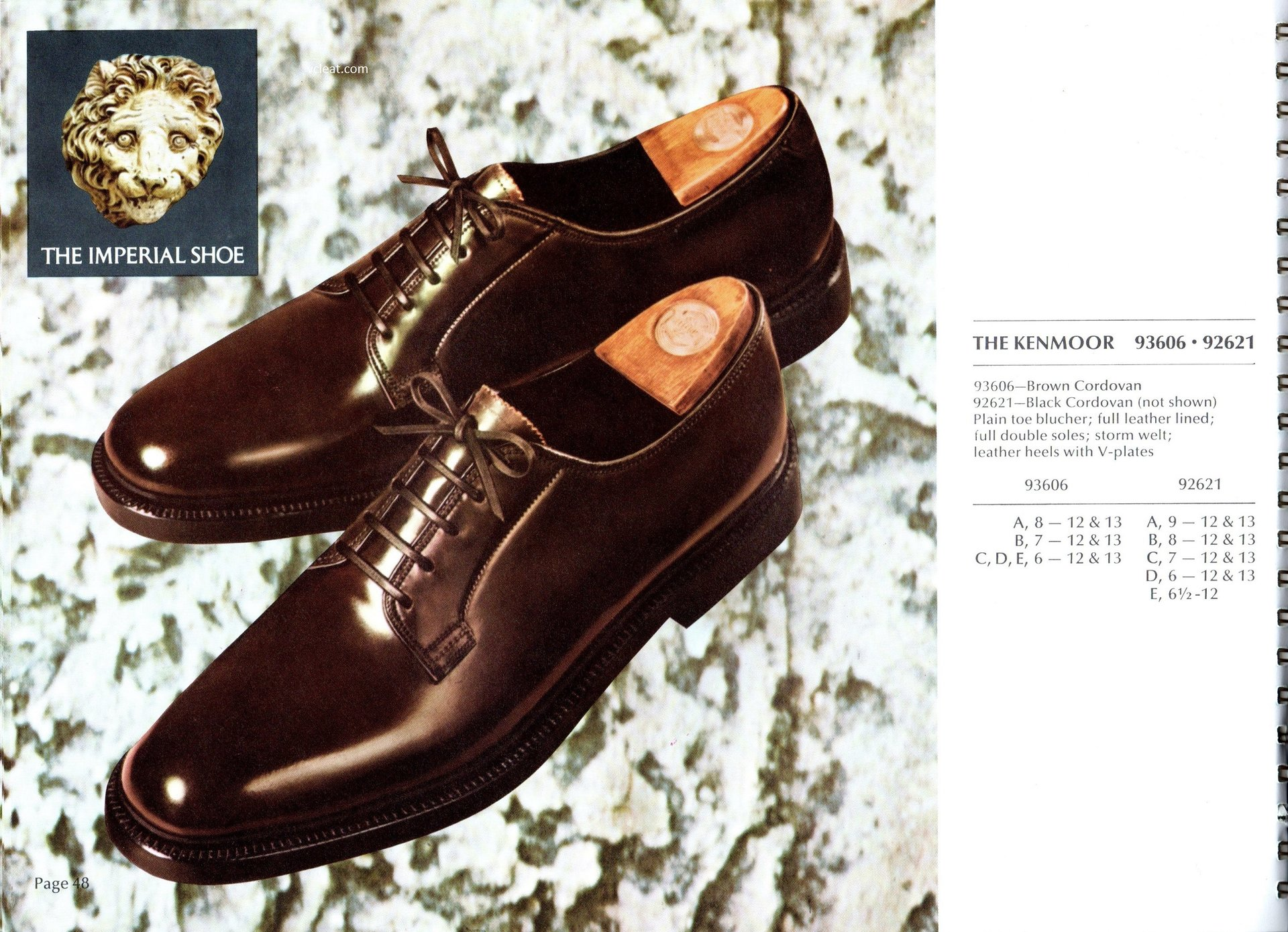 Florsheim Imperial 93606 92621 Shell Cordovan