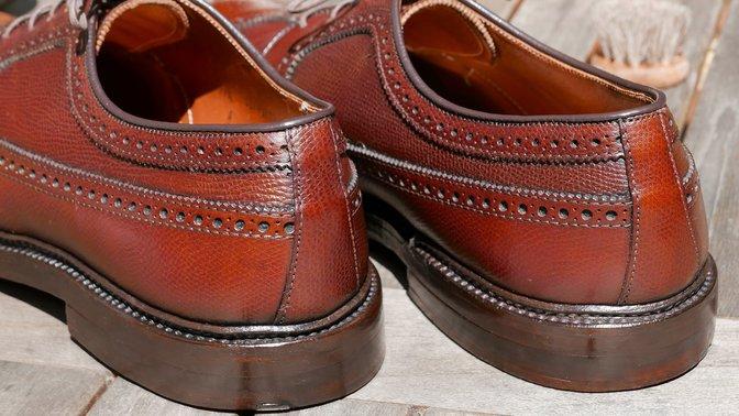 Alden stacked leather heel