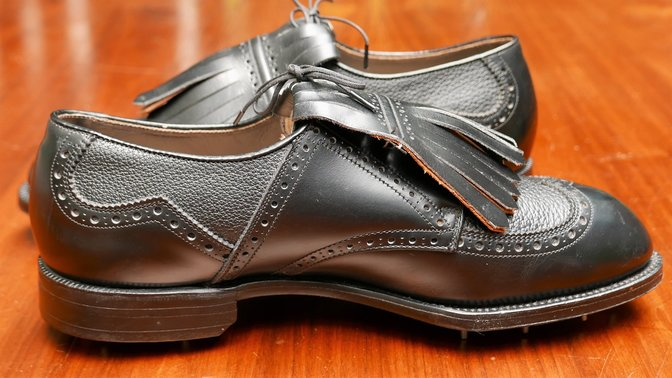 Vintage FootJoy Classics Black Wing Tip