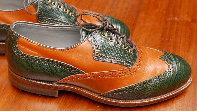 Vintage FootJoy Classics Green Lizardskin