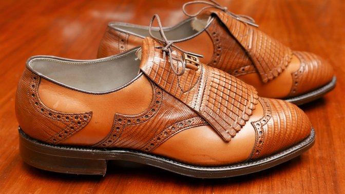 Vintage Classics  FootJoy brown Lizardskin