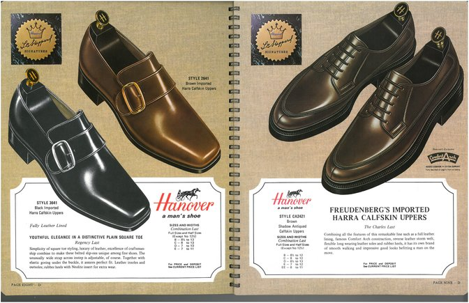 Hanover Shoes 2641 3641 2421 Freudenberg leather