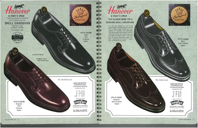 Hanover Shoes 2168 3168 2351 3351 Shell Cordovan