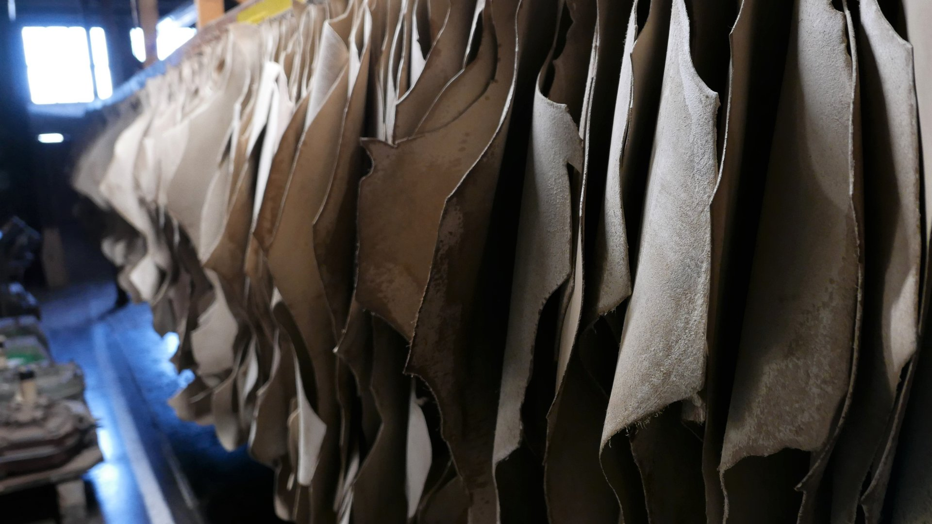 Air drying leather