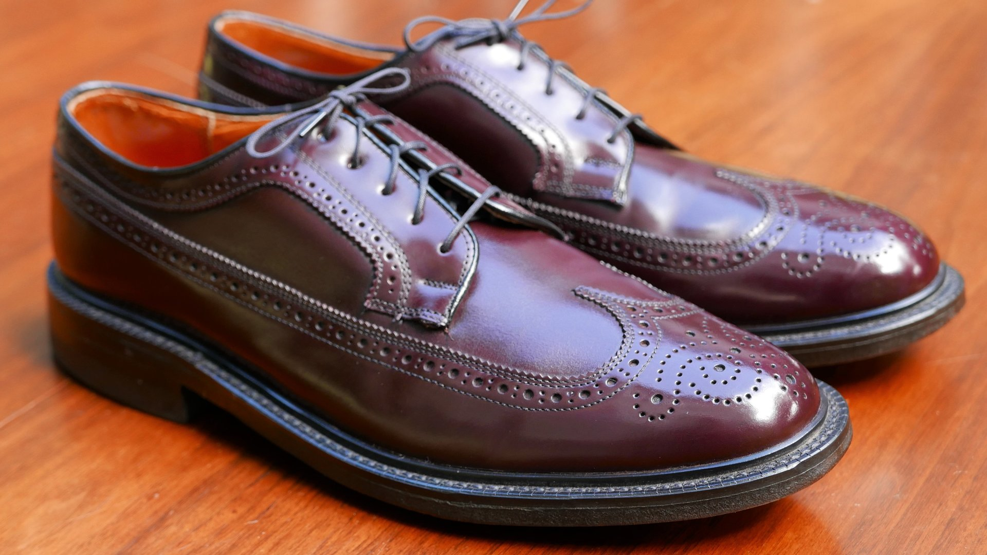 Stuart McGuire Shell Cordovan long wing tip