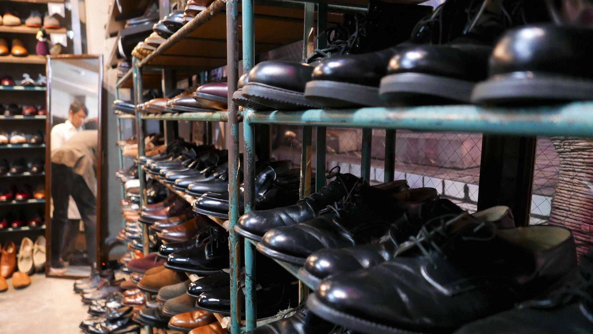 Vintage shoe store